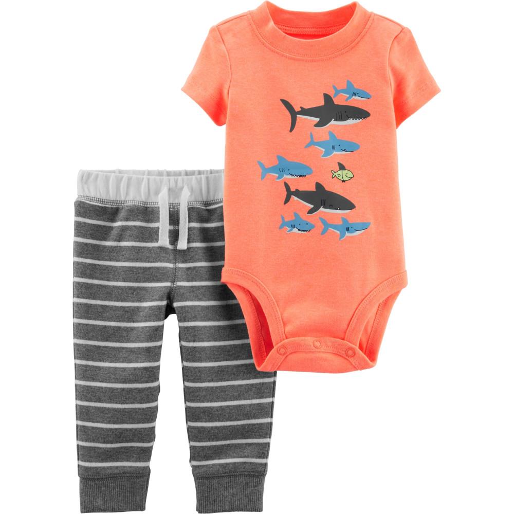 Carter's Set 2 Piese Rechin body & pantaloni
