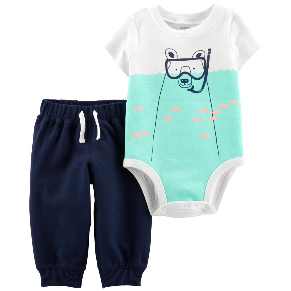 Carter's Set 2 piese Urs polar pantaloni & body