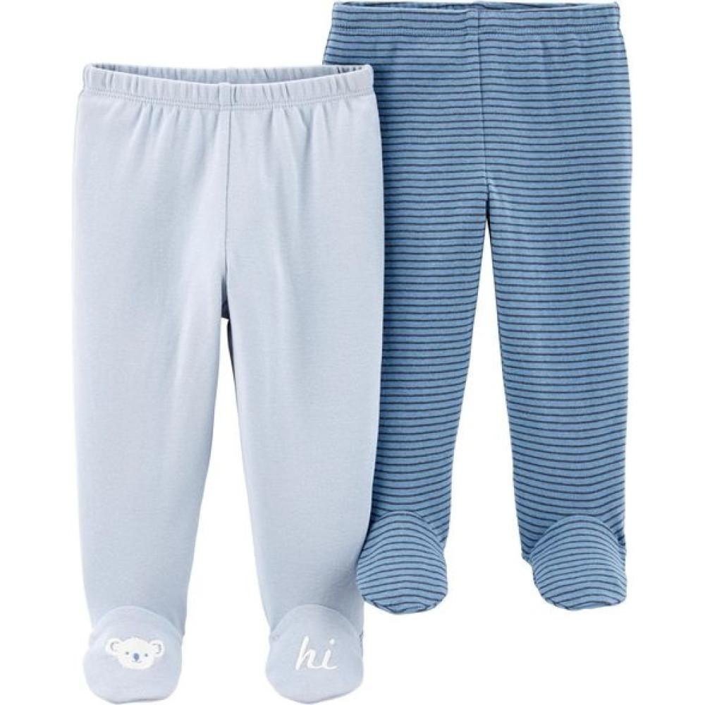 Carter's Set 2 piese pantaloni uni, dungi