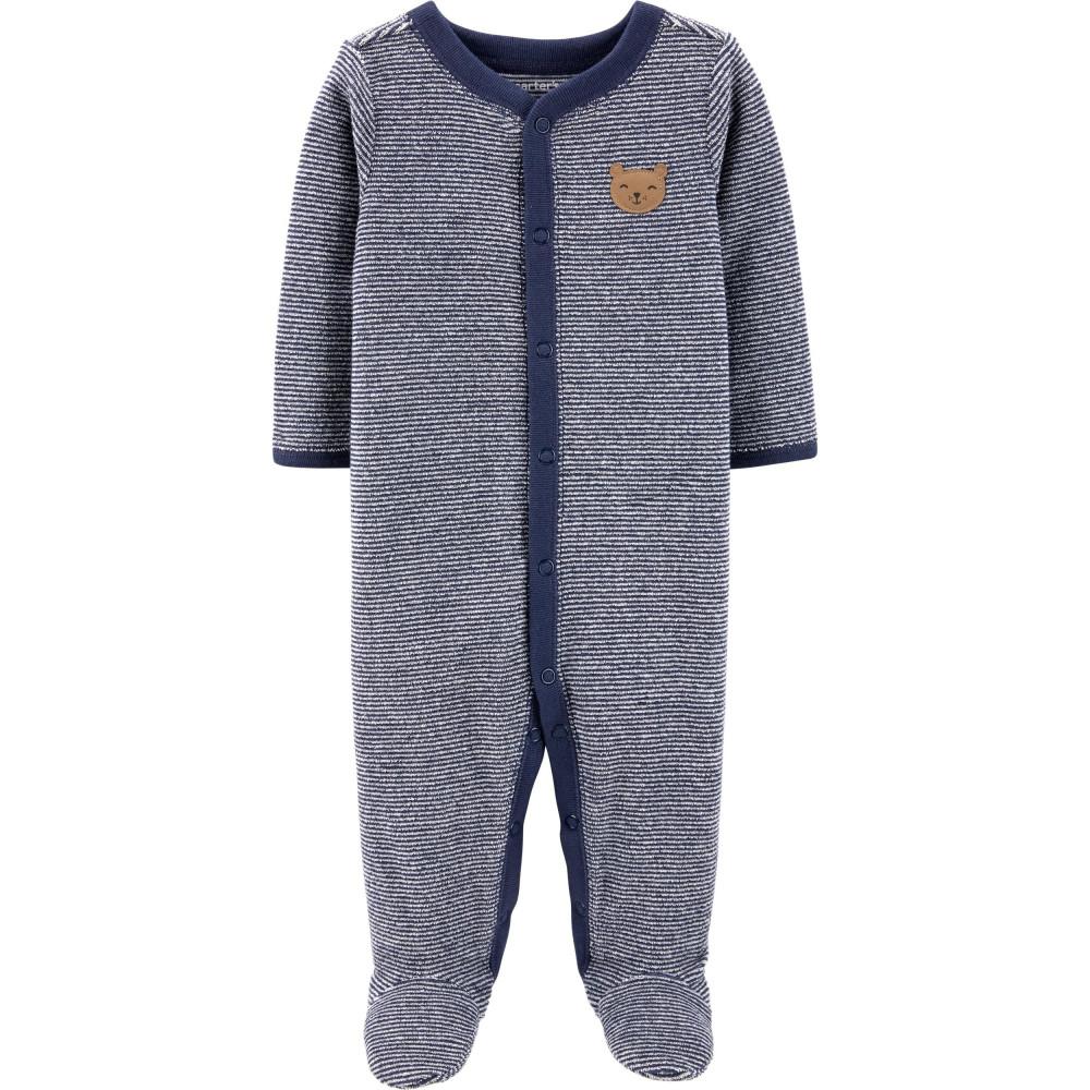 Carter's Pijama bebe cu dungi Ursulet