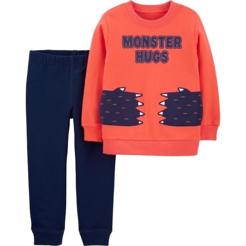 Carter's Set 2 piese bluză & pantaloni labute