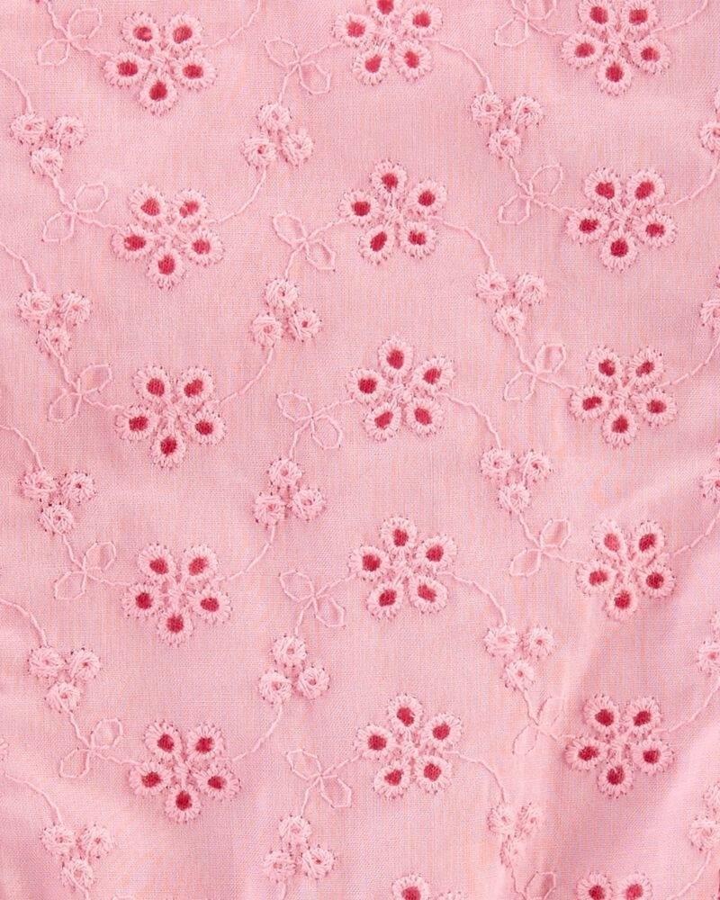 Carter's Salopetă de vară roz cu broderie