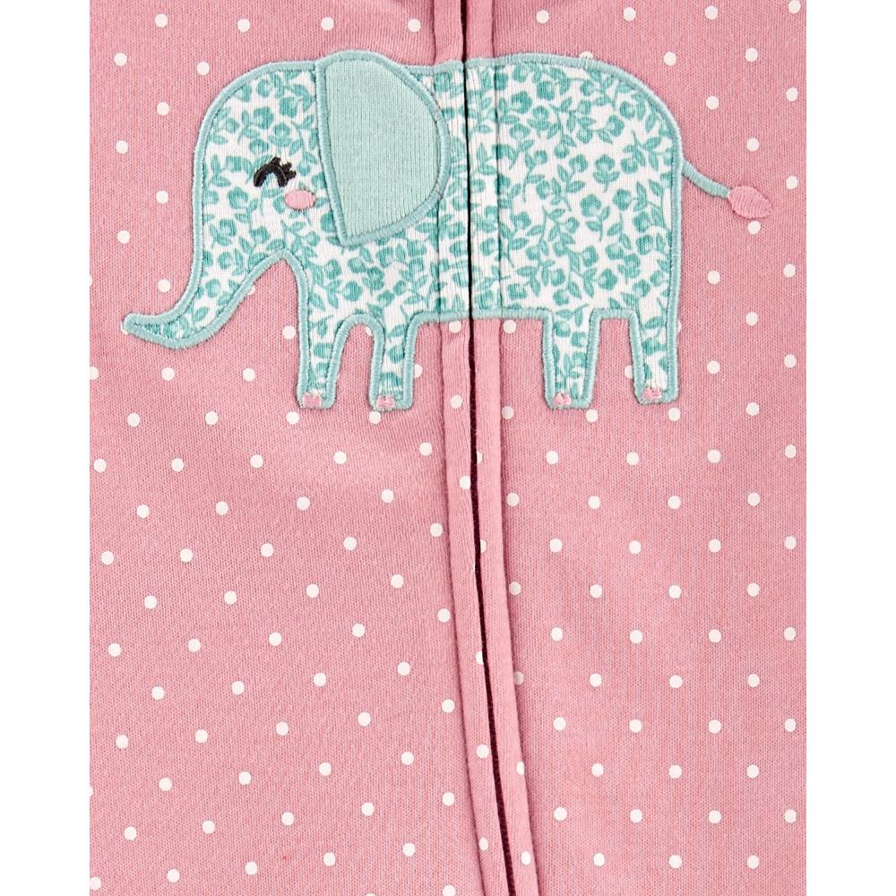 Carter's Pijama cu fermoar reversil bebe Elefantel