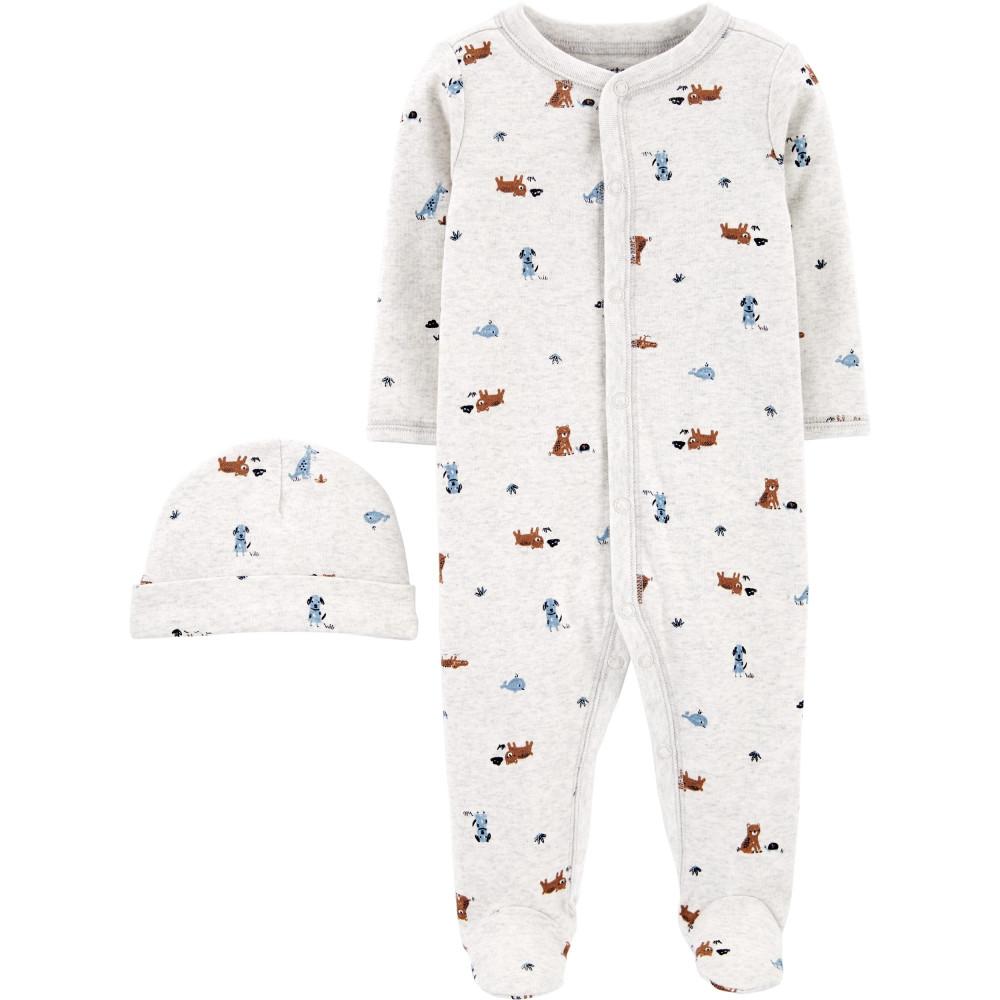 Carter's Set 2 piese pijama si caciulita Catei