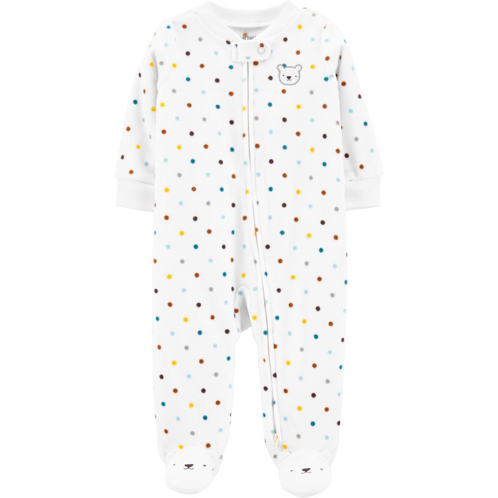 Carter's Pijama bebelus Ursulet cu buline