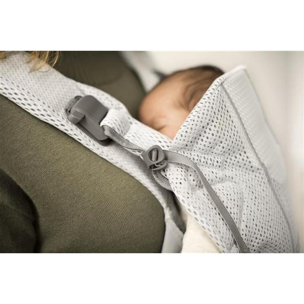 BabyBjorn - Marsupiu anatomic One Air - Silver, 3D Mesh