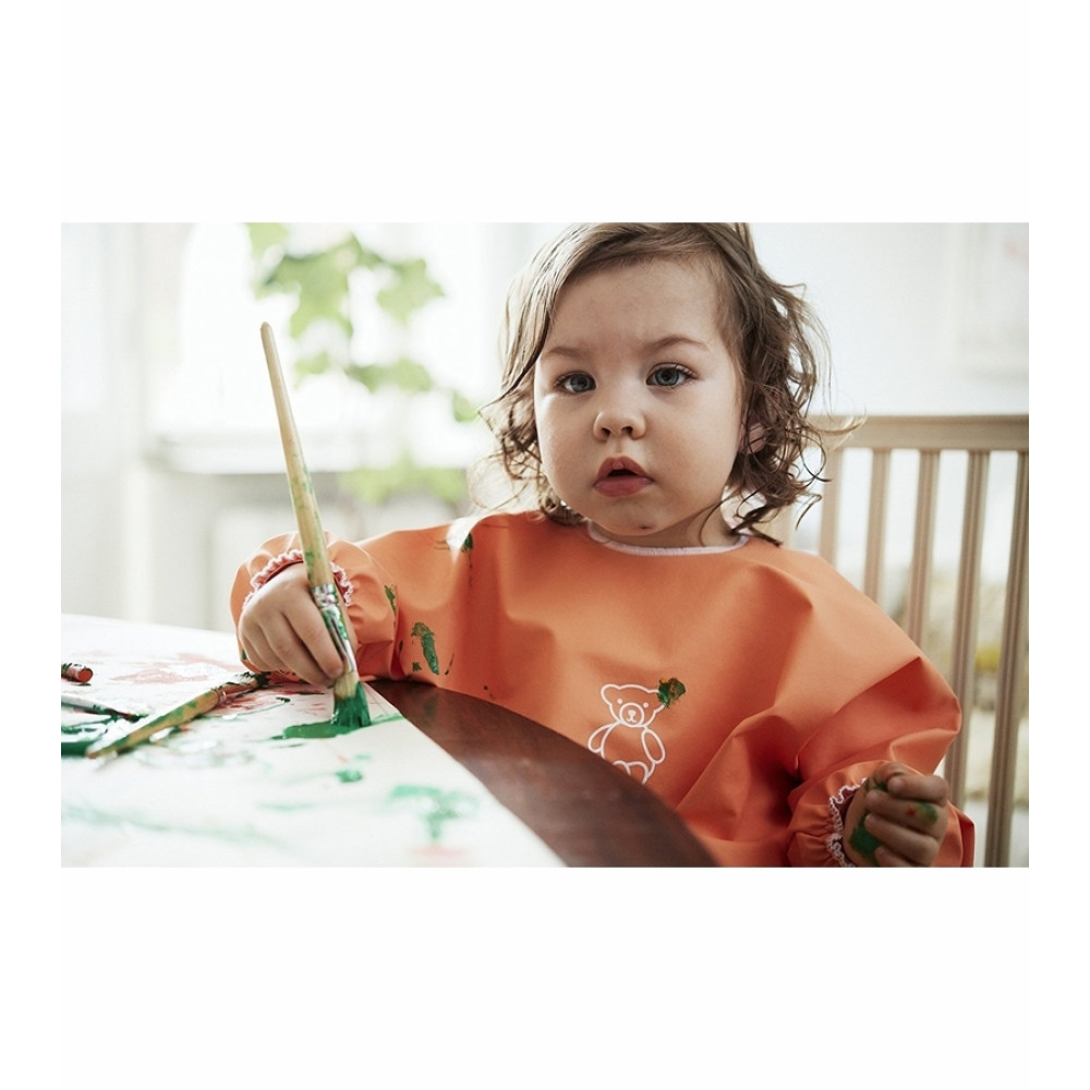 BabyBjorn - Bavetica cu maneca lunga Orange