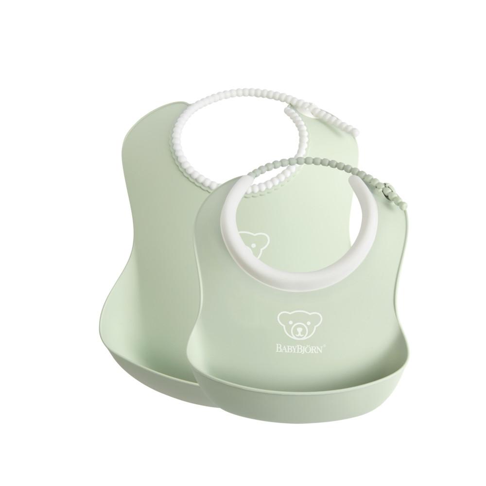 BabyBjorn Set 2 bavete – Baby Feeding Set Powder green