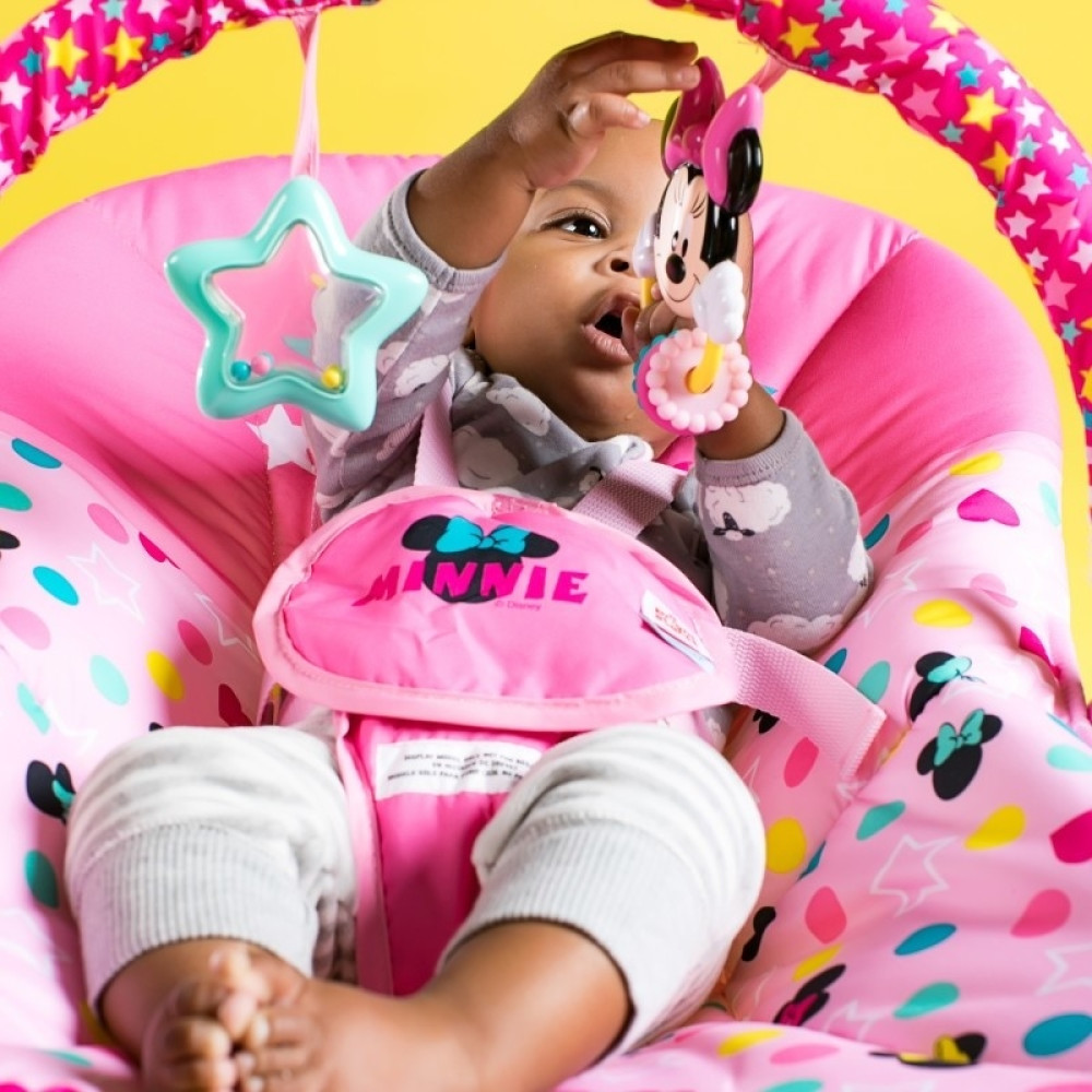 Bright Starts - Leagan portabil Rocker Minnie Stars & Smiles