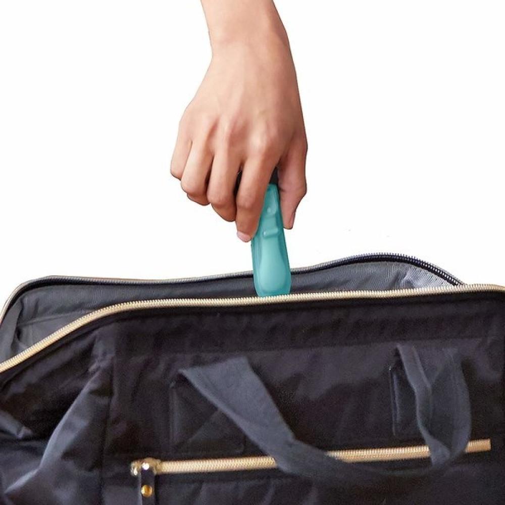 Skip Hop - Set 2 lingurite pliabile pentru calatorii, Gri / Turcoaz