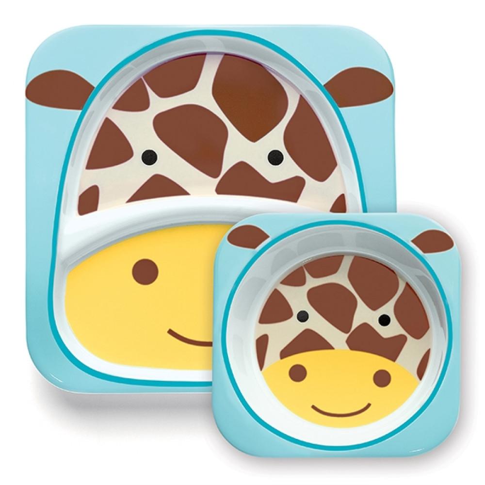 Skip Hop - Set Farfurie & Bol – Girafa