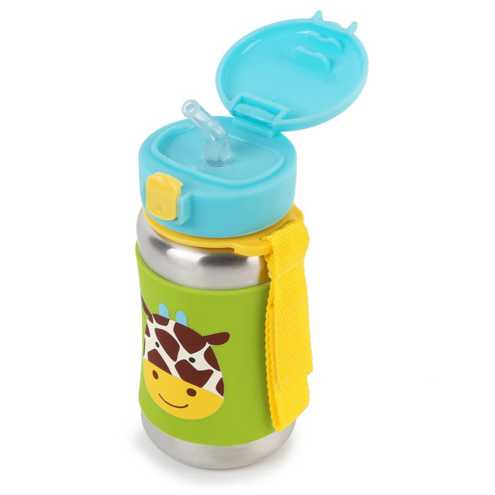 Skip Hop - Sticla cu pai din otel inoxidabil Zoo Giraffe