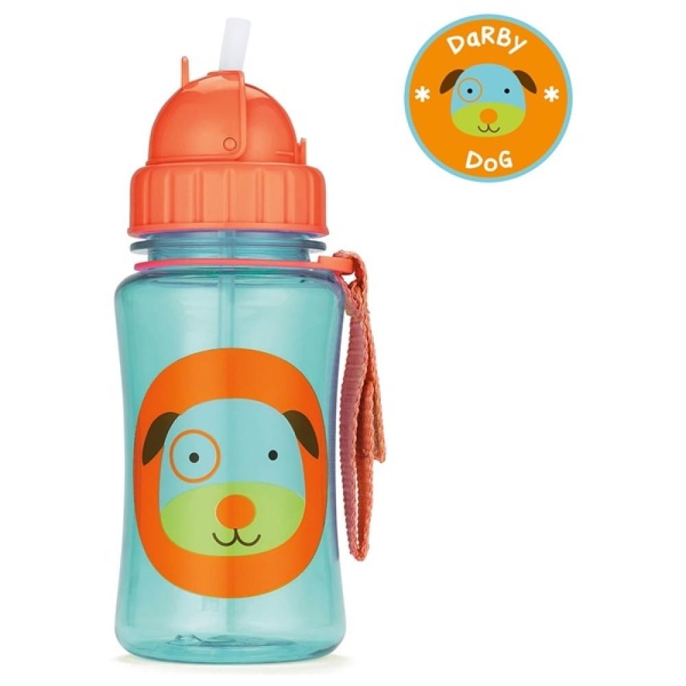 Skip Hop - Sticla cu pai Zoo - Catel