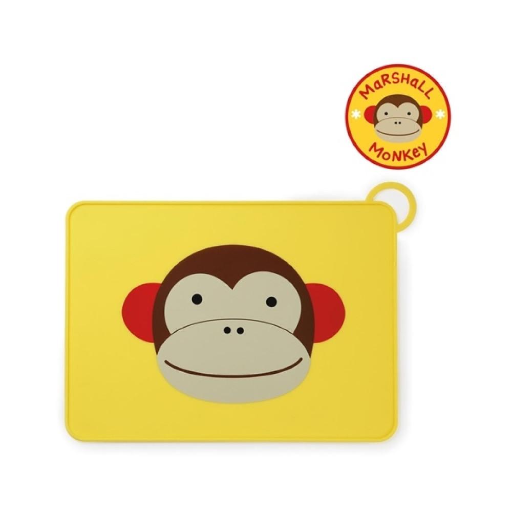Skip Hop - Suport Zoo Fold & Go din silicon - Maimutica