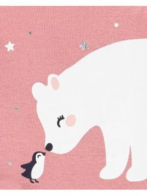 Carter's Set 2 Piese Urs polar body & colanți cu fustiță tutu