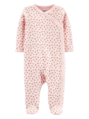 Carter's Pijama bebelus roz cu inchidere laterala