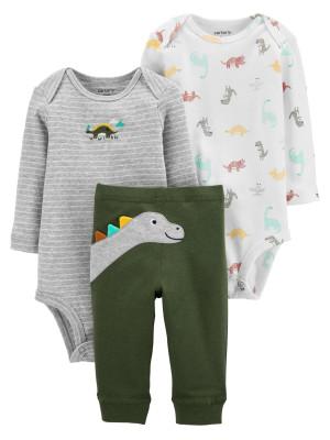 Carter's Set 3 Piese 2 body-uri & pantaloni Dinozaur