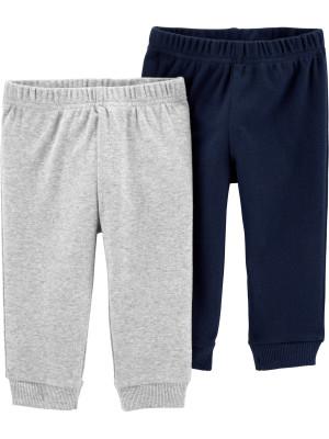 Carter's Set 2 piese pantaloni bleumarin/gri 100% Bumbac Organic