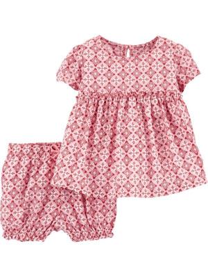Carter's Set 2 Piese pantaloni scurți și top roz