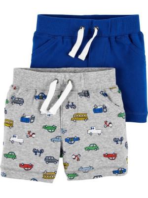 Carter's Set 2 Piese pantaloni scurti cu masinute