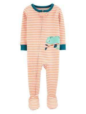 Carter's Pijama cu dungi bebelus Cameleon