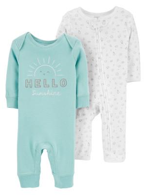 Carter's Set 2 piese pijamale bebe Soare
