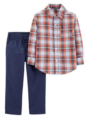 Carter's Set 2 Piese Elegante cămașă & pantaloni 100% bumbac