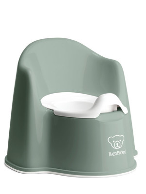 BabyBjorn - Olita cu protectie spate Potty Chair Deep Green