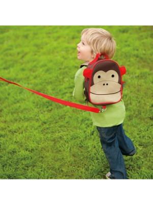 Skip Hop Ghiozdan cu centura de siguranta Zoo – Maimutica