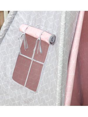 Jolie - Cort Tipi 100x100 cm Geometric Pink