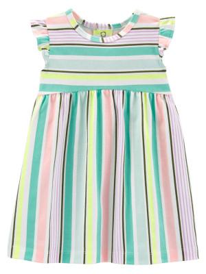 Carter's Rochiță cu dungi multicolore
