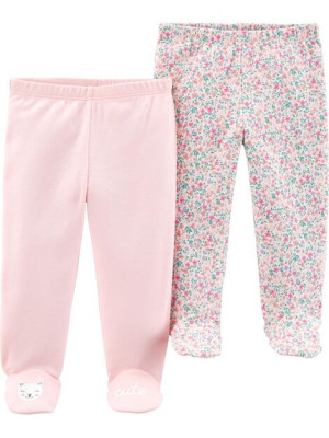 Carter's  Set 2 pantaloni floral