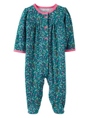 Carter's Pijama verde cu flori