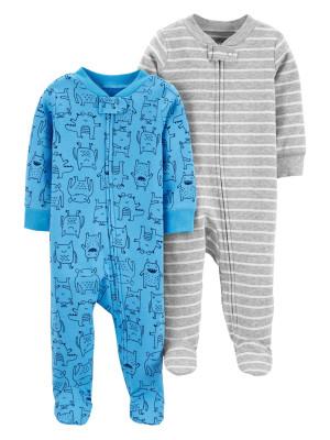 Carter's Set 2 piese pijamale bebelus Monstruleti