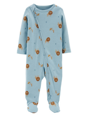 Carter's Pijama cu fermoar reversibil Leu 100% Bumbac Organic