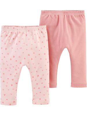Carter's Set 2 piese pantaloni roz 100% Bumbac Organic