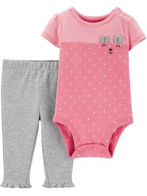 Carter's Set 2 piese bebelus pantaloni si body Ursulet