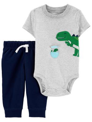Carter's Set 2 piese pantaloni si body Dinozaur