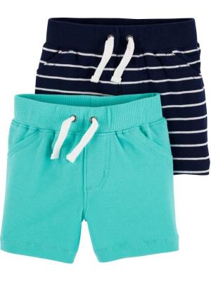 Carter's Set 2 Piese pantaloni scurti navy