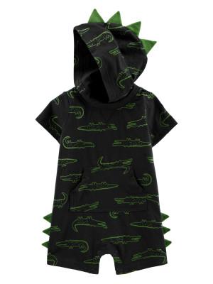 Carter's Salopetă bebelus cu gluga Aligator
