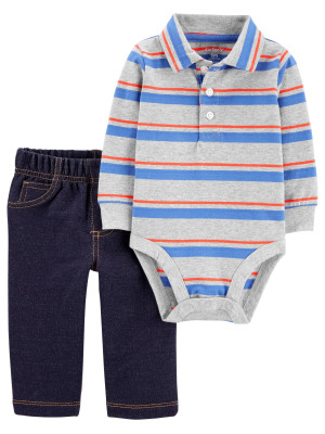 Carter's Set 2 Piese pantaloni si body