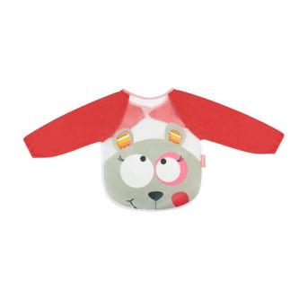 Badabulle – Baveta cu maneci lungi Pink Bear