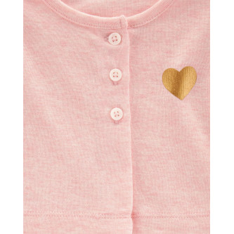 Carter's Set 2 Piese Inimioare cardigan & body tip rochie