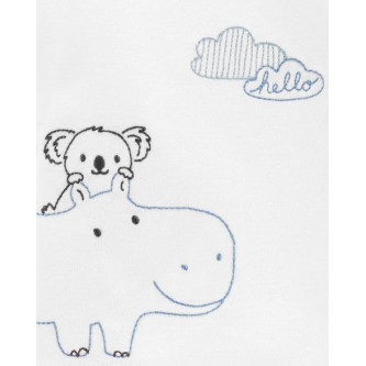 Carter's Set 4 piese Koala, pantaloni, top, caciula si sosete