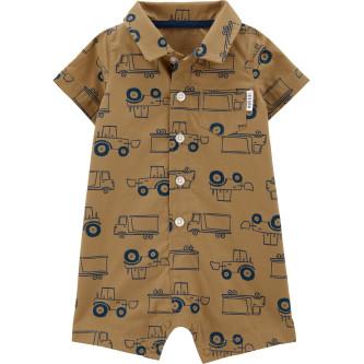 Carter's Salopetă bebe tip cămașă Camion