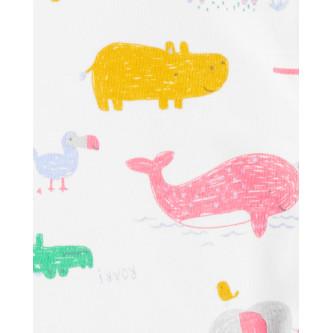 Carter's Pijama cu fermoar reversibil bebe Safari