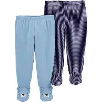 Carter's Set 2 piese pantaloni bebelus uni dungi