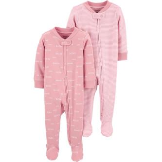 Carter's Set 2 piese pijamale bebe text si dungi