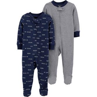 Carter's Set 2 piese pijamale bebe text