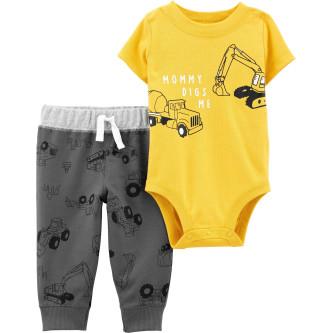 Carter' s Set 2 piese bebelus pantaloni si body Constructii